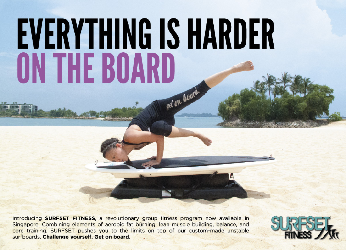 SURFSET fitness Singapore challenge lean muscle building and core training
