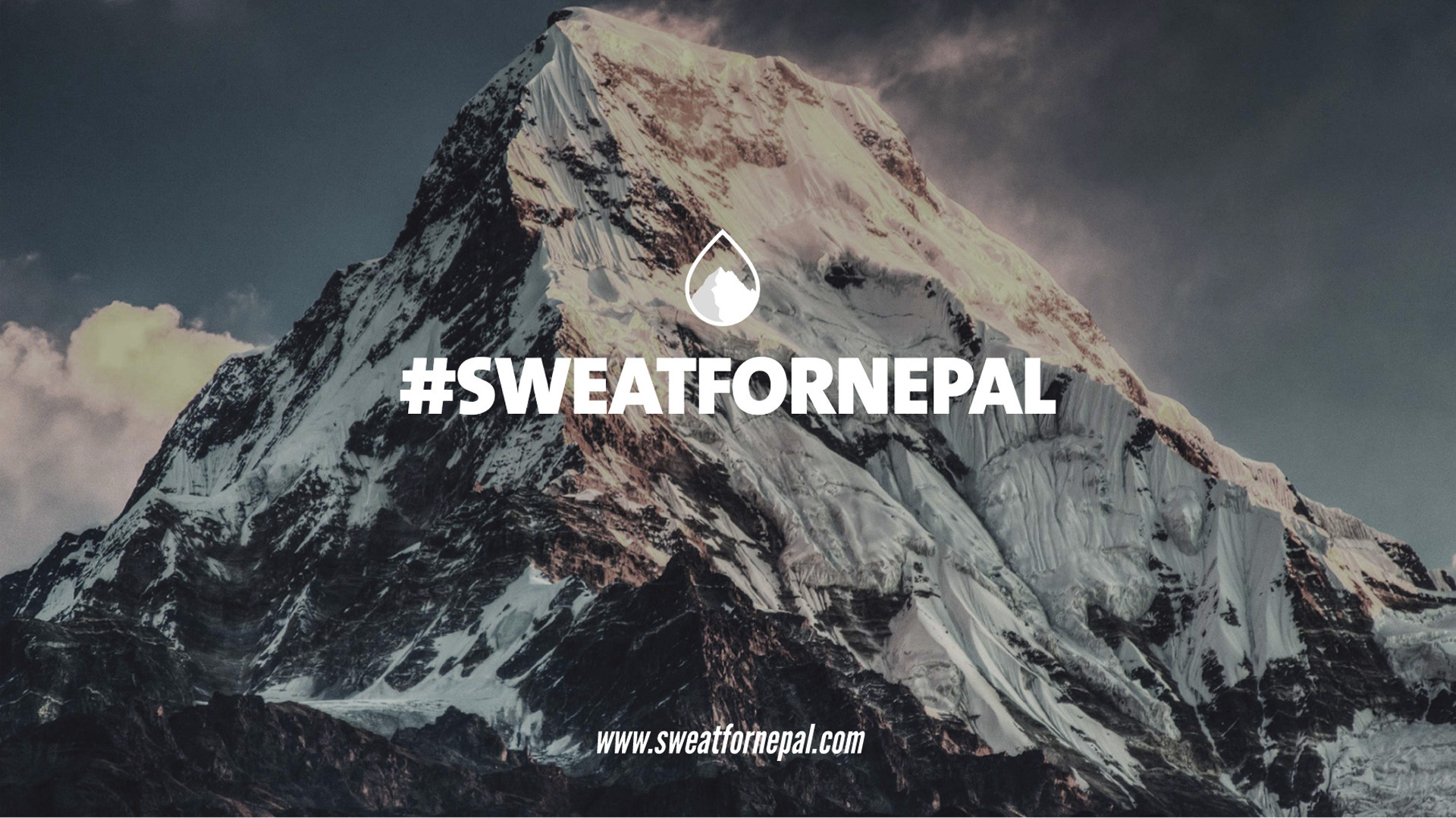 sweat for nepal sweatfornepal banner mountain background