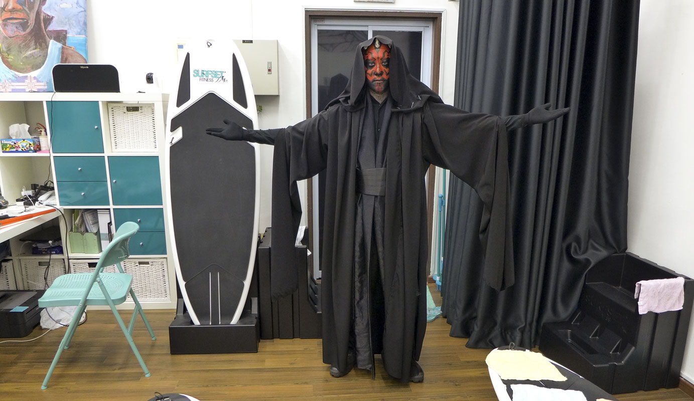 Halloween Darth Maul in Surfset Studio