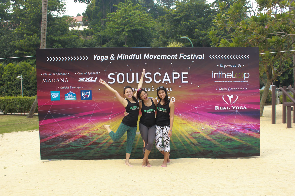 Soulscape 2015 Yoga event with SURFSET instructors