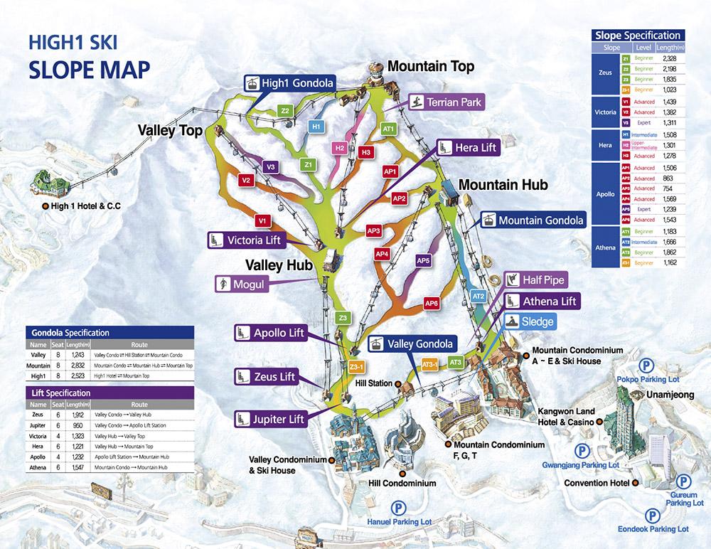 High1 trail map
