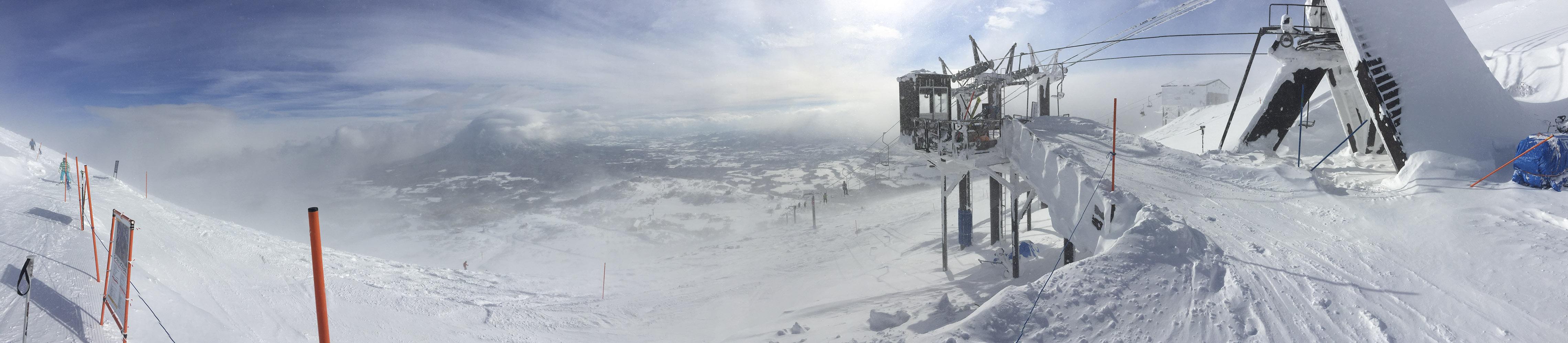 Snowboarding View from Niseko Peak