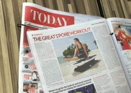 SURFSET on TODAY newspaper Singapore Workout