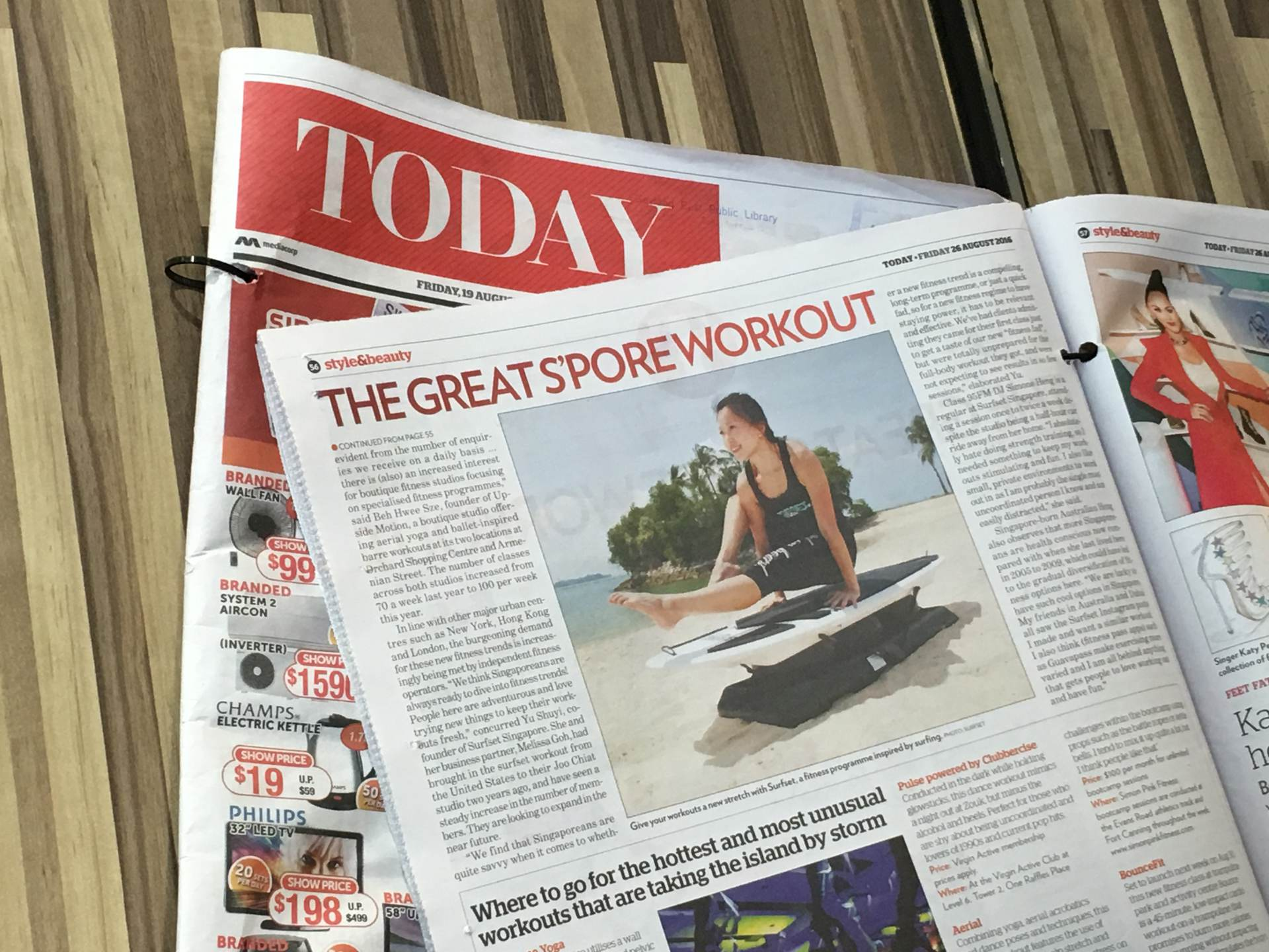 SURFSET on today's Today newspaper!