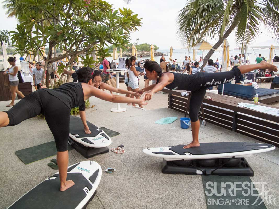 Surfset Soulscape 2014 instructors in yoga poses