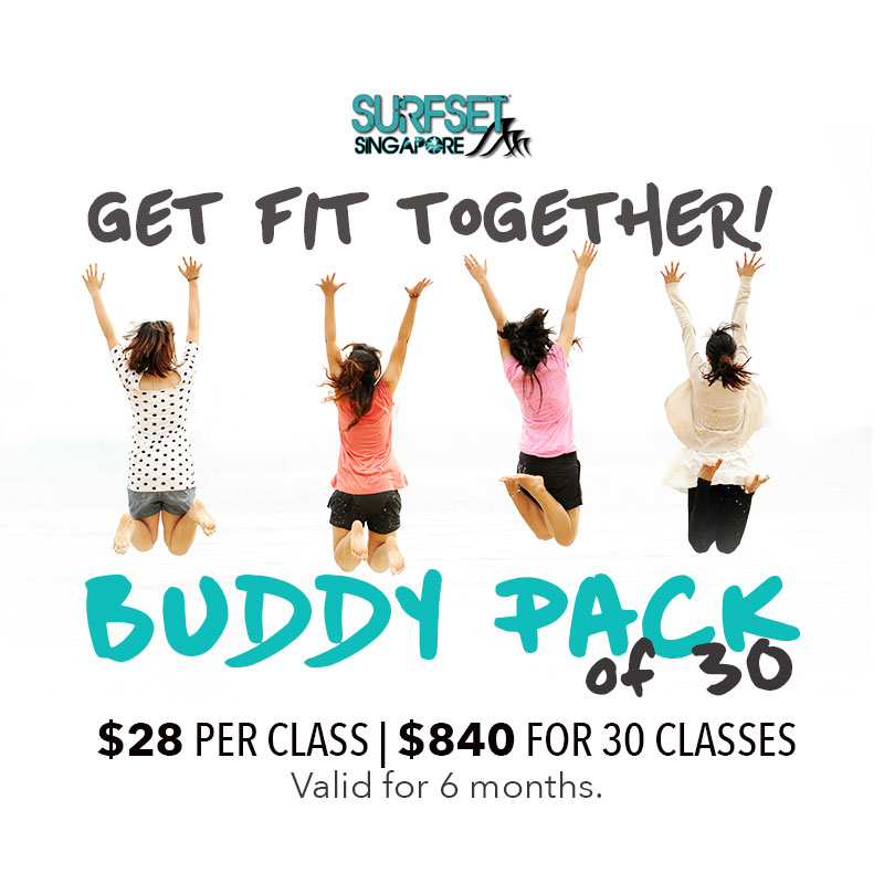 Buddy Pack Poster $28 per class Surfset Fitness