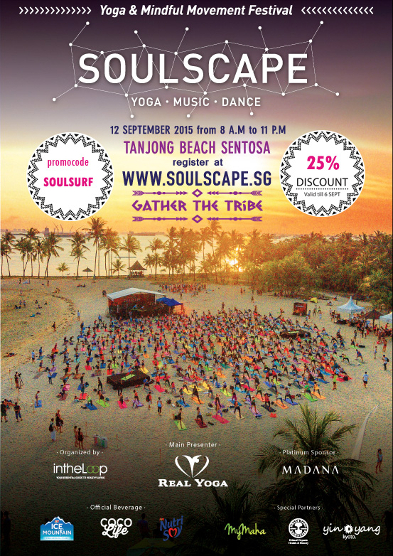 Soulscape Yoga Event Poster with surfset promo