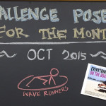 Challenge poses October Wave runners side plank reverse plank