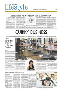 The business times article Quirky Business Get a Surfer Bod