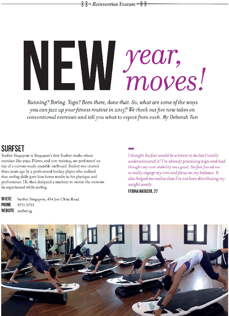 Glow magazine yoga core training stability surfset
