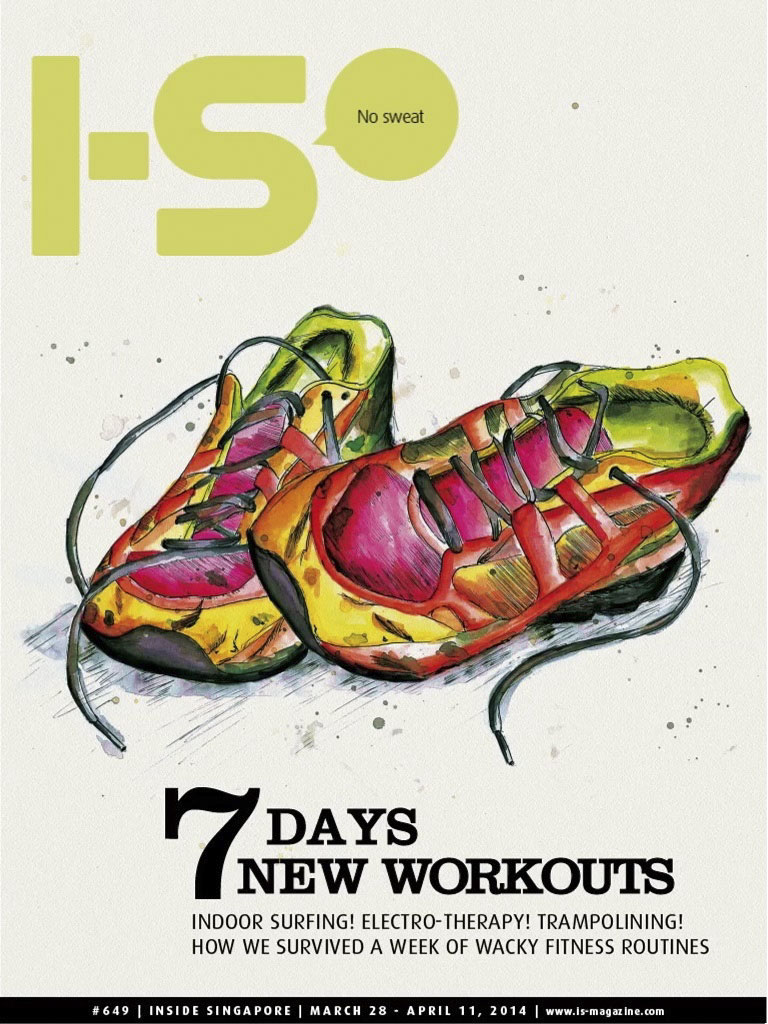 I-S Magazine Cover 7 days new workouts indoor surfing fitness routines