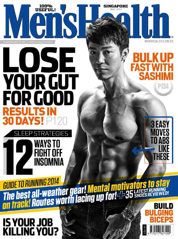 Men's Health Cover Lose your gut for good