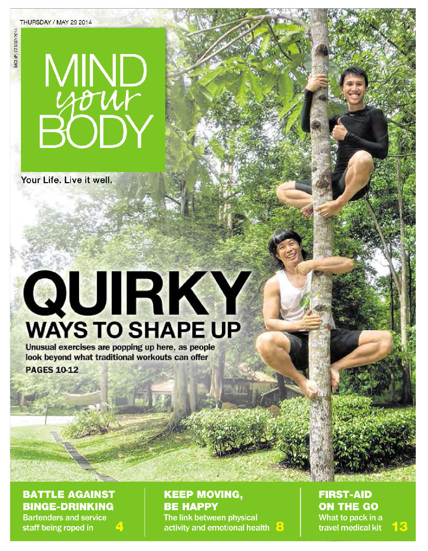 Mind your body cover Quirky ways to shape up unusual exercises