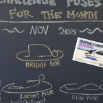 October challenge yoga poses bridge locust and fish pose