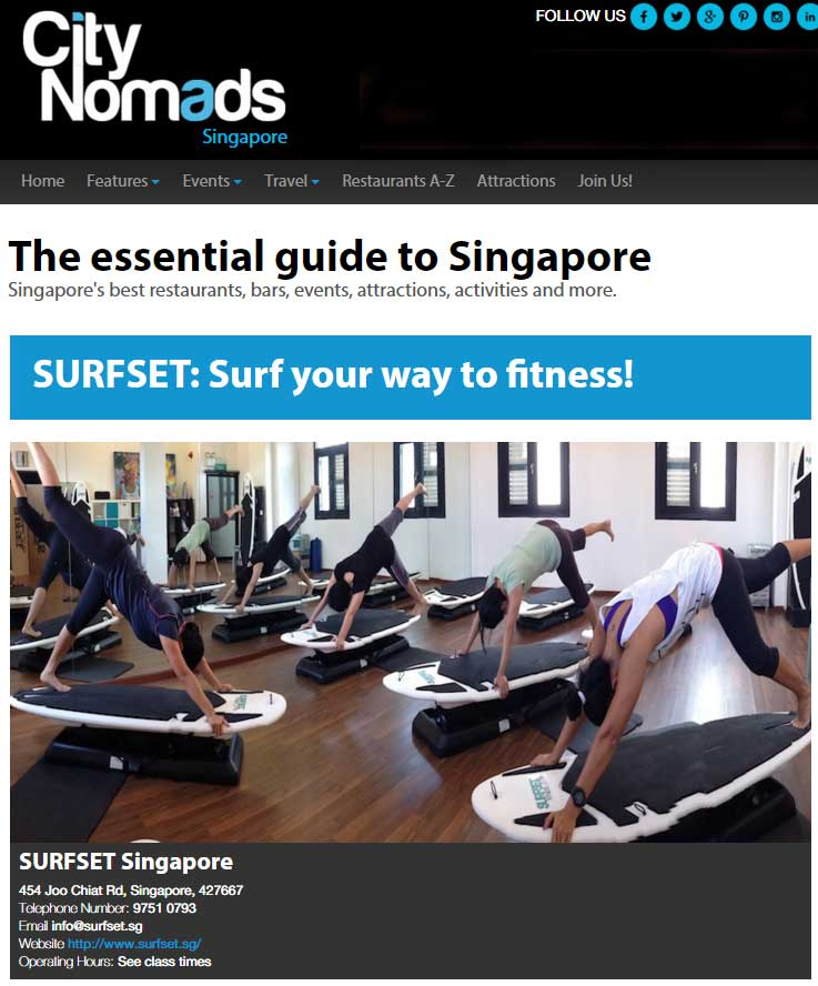 City Nomads Surf your way to fitness