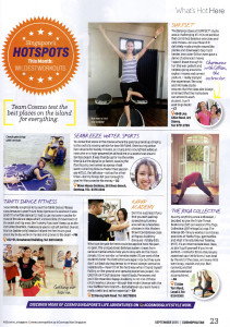 Cosmopolitan What's Hot balance exercises core moves