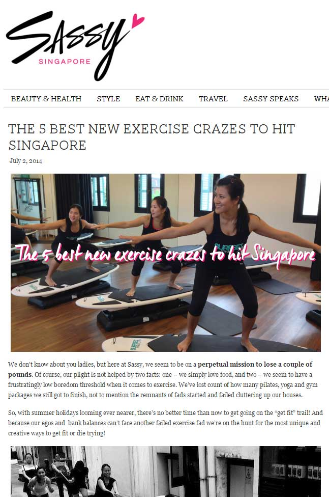 Sassy Singapore Article best exercise crazes pilates yoga gym