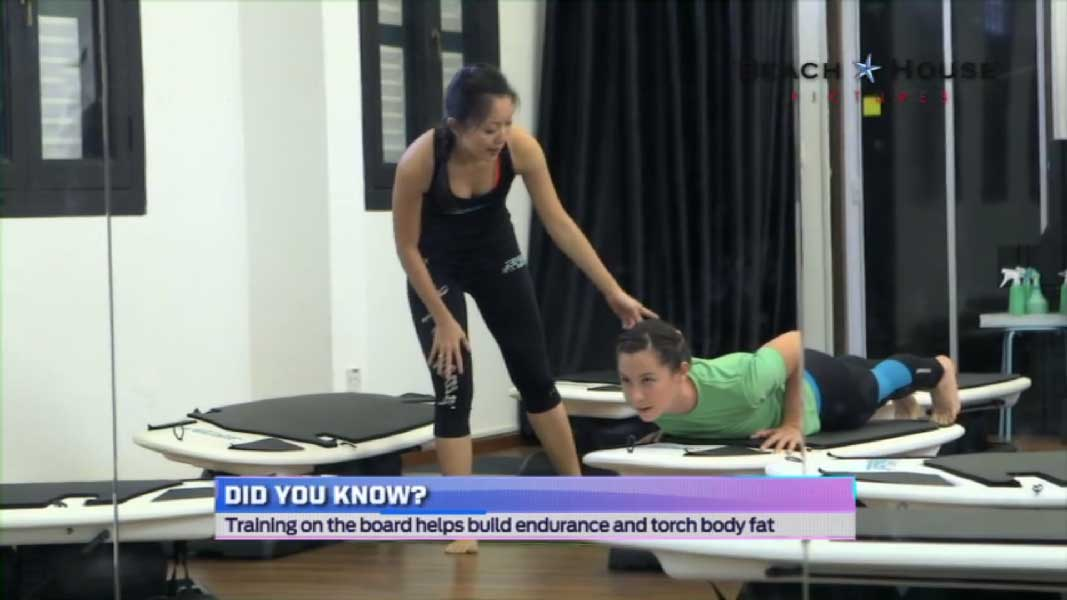 Sister HIIT Kelly Latimer at Surfset with Shuyi