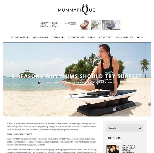 SURFSET on Mummyfique: why mums should try surfset