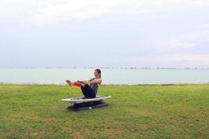 Limaran Boat Pose on SURFSET board