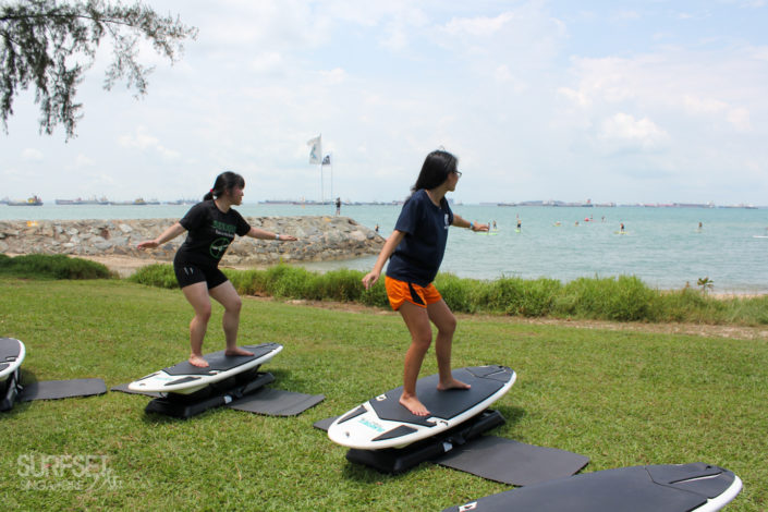 Training to be surfers