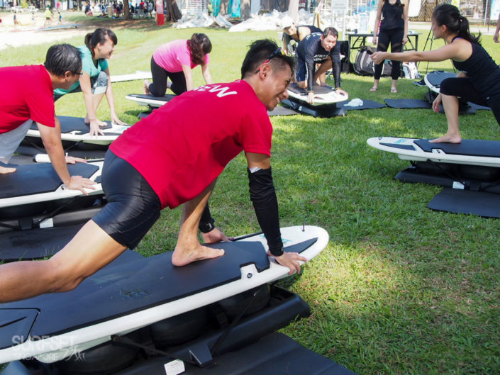 Training for surfers at East Coast Park