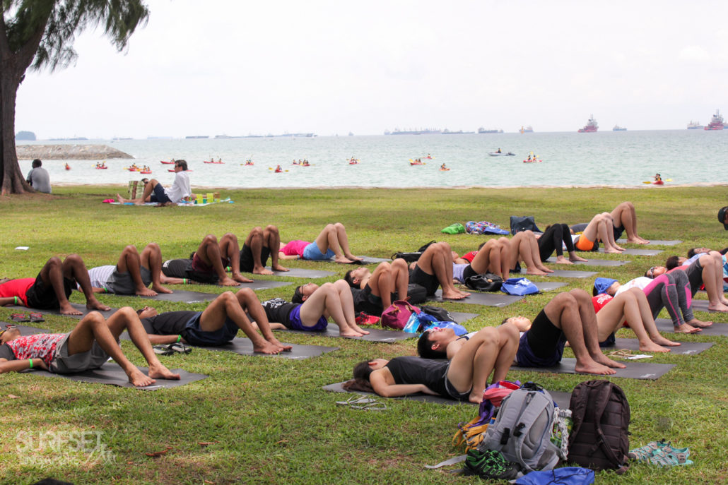 Yoga at East Coast Park Singapore