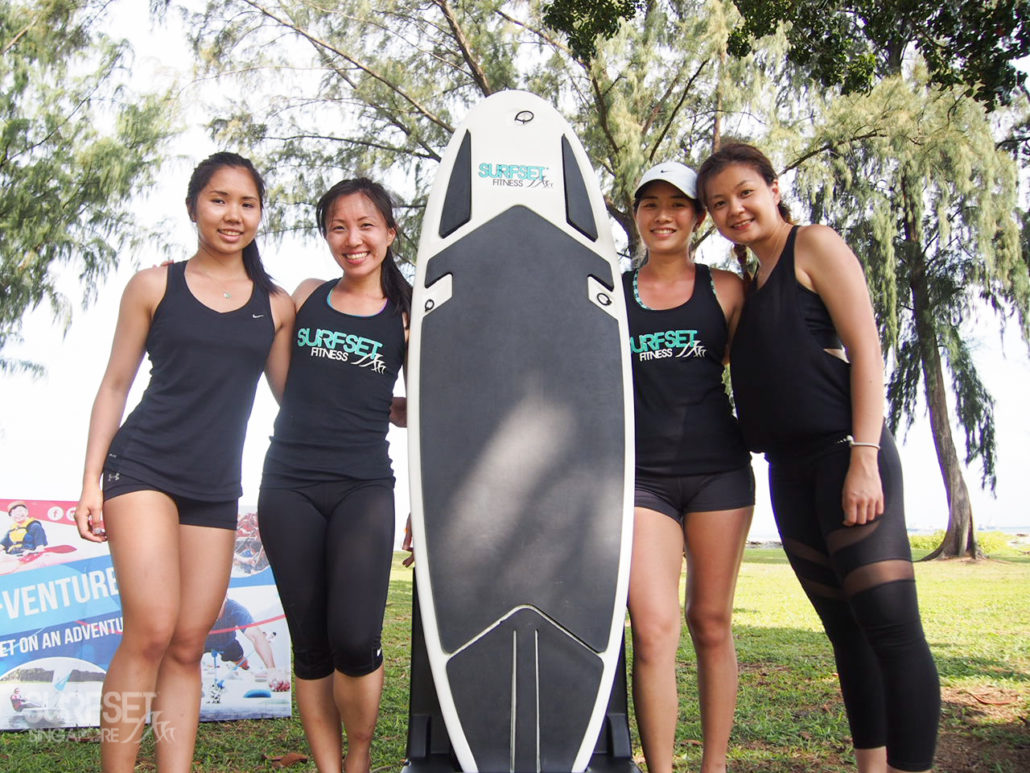 Instructors and facilitators with SURFSET board