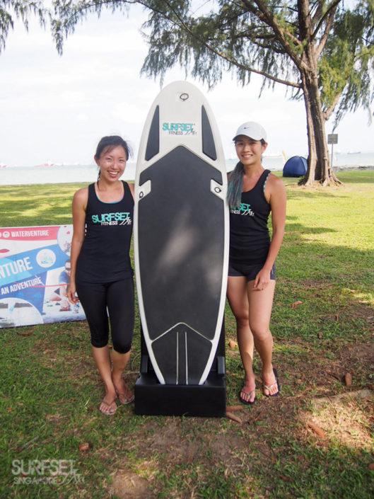 Shuyi and Limaran with SURFSET board