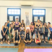Happy faces! Big smiles after the incredible acro yoga session!