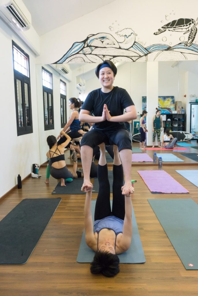 Mei Wen with Tian as base - Chair Pose (Utkatasana)