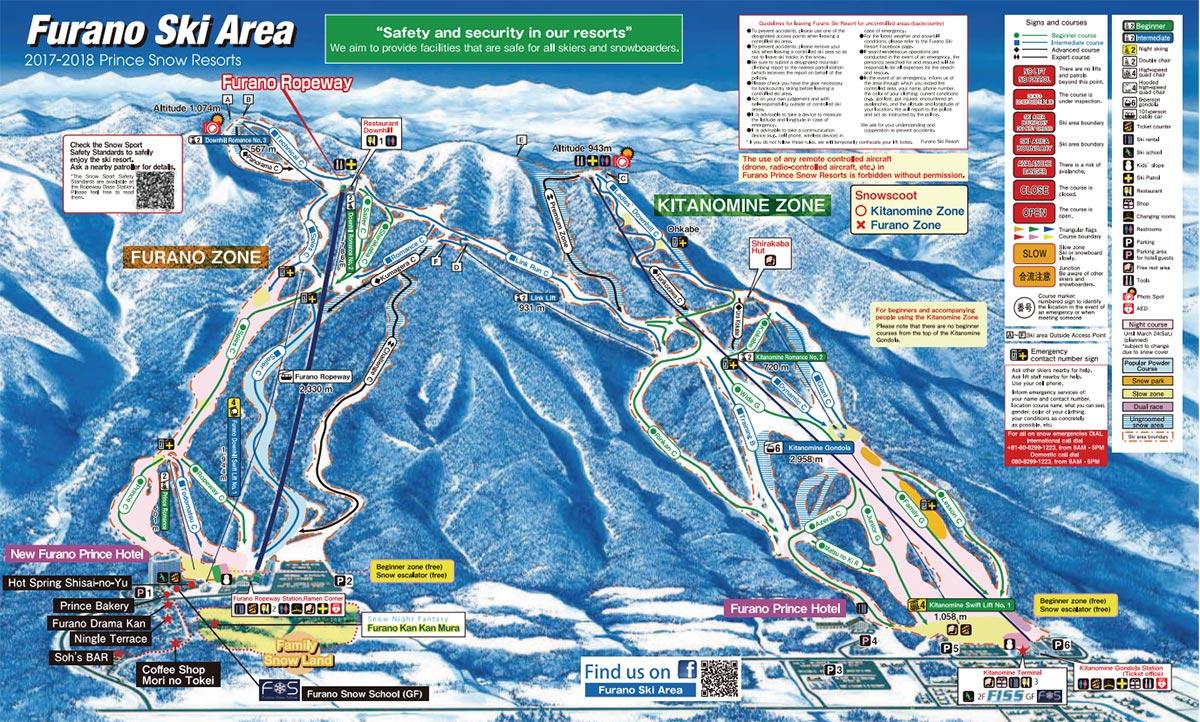 Furano Ski Slope Map